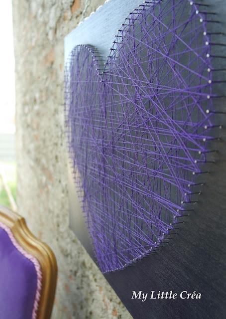 my little cr a string art coeur stvalentin. Black Bedroom Furniture Sets. Home Design Ideas