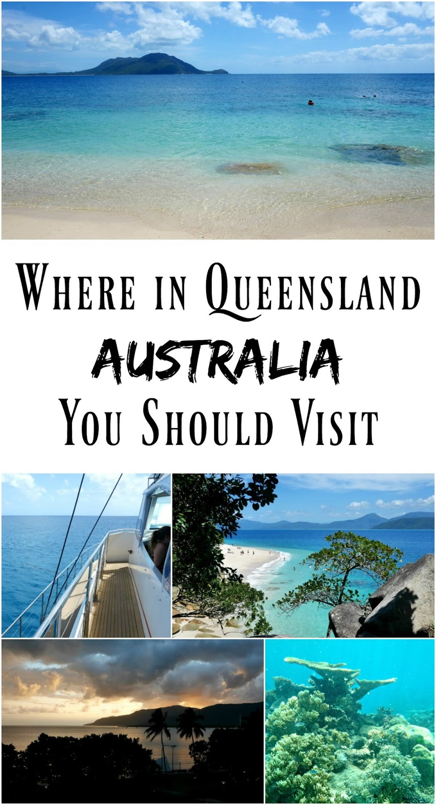 PIN FOR LATER: Where in Queensland Australia you should visit depending on what sort of vacation you enjoy, and WHEN you should visit! Queensland has two seasons (wet and dry) and one season is when the deadly jellyfish are in the waters.