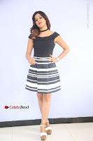 Actress Mi Rathod Pos Black Short Dress at Howrah Bridge Movie Press Meet  0038.JPG