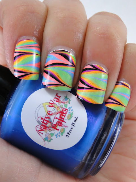 Neon Water Marble