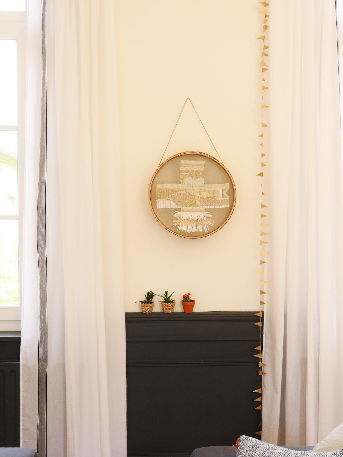 atelier rue verte le blog collectif project inside mon diy tissage avec un tamis en bois. Black Bedroom Furniture Sets. Home Design Ideas