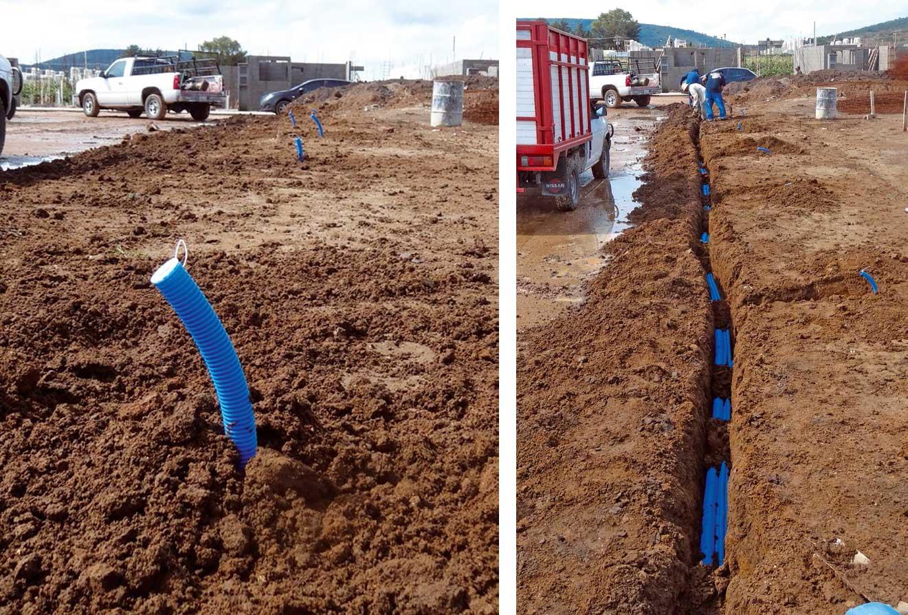 Instalaciones eléctricas residenciales - Detalles de tubería subterránea para telecomunicaciones 1