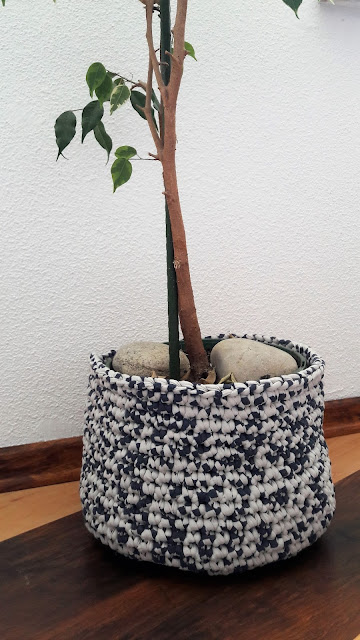 Cache-pot crochet trapilho tuto tutoriel diy