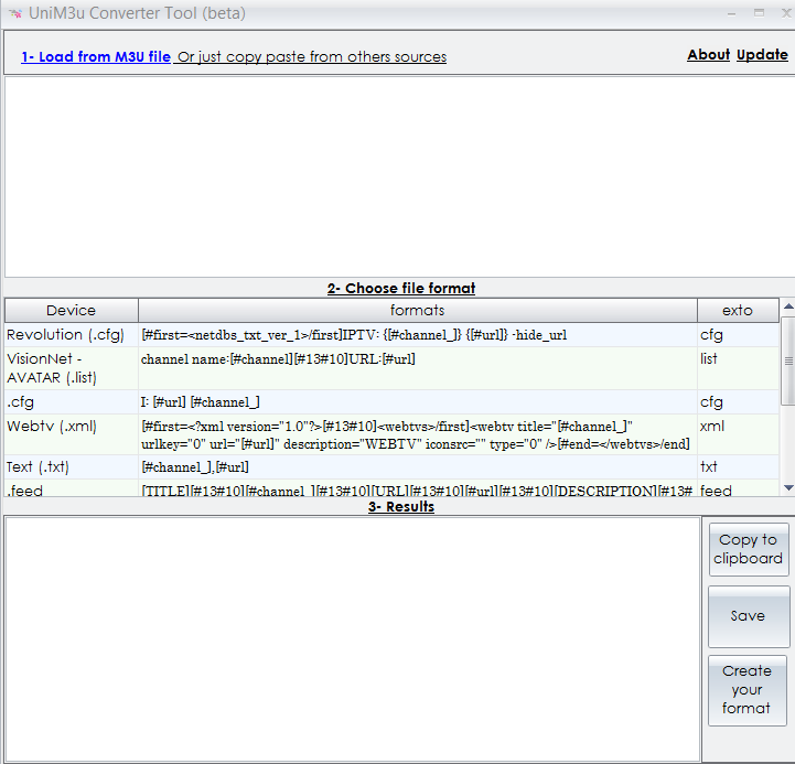 unim3u converter tool