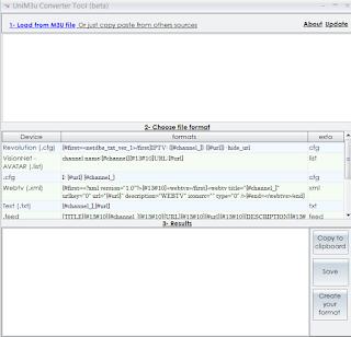 unim3u converter tool beta