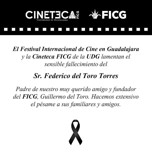 FICG LAMENTA EL FALLECIMIENTO DEL SR. FEDERICO DEL TORO