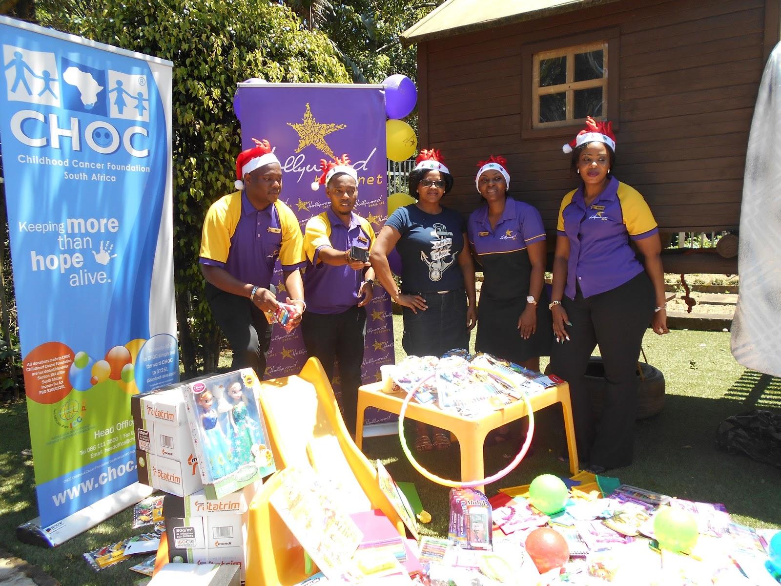 CHOC- Childhood Cancer Foundation in Pietermaritzburg - Hollywoodbets Mbuyisa donation