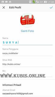 Bio instagram Biru