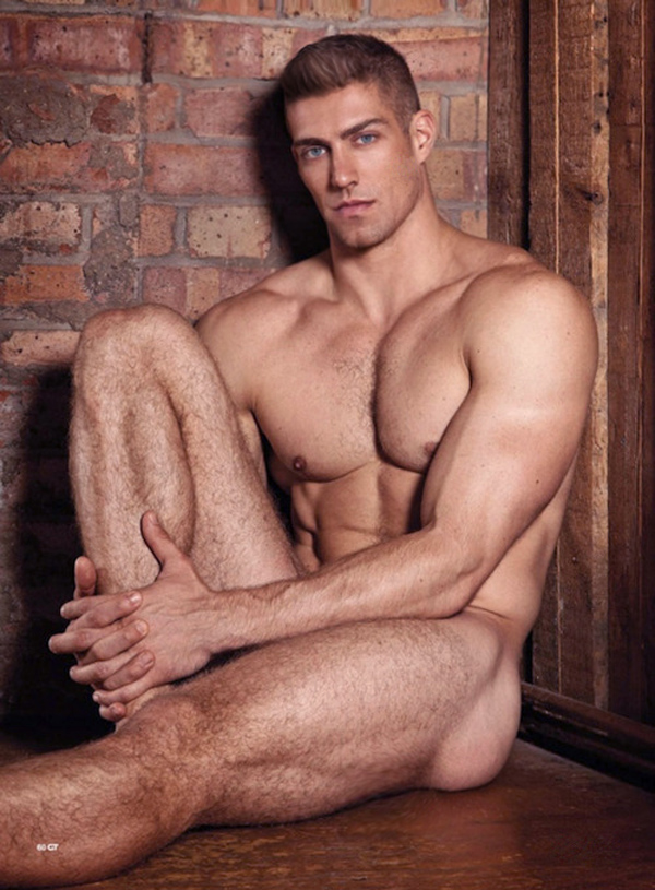 Black nude male model