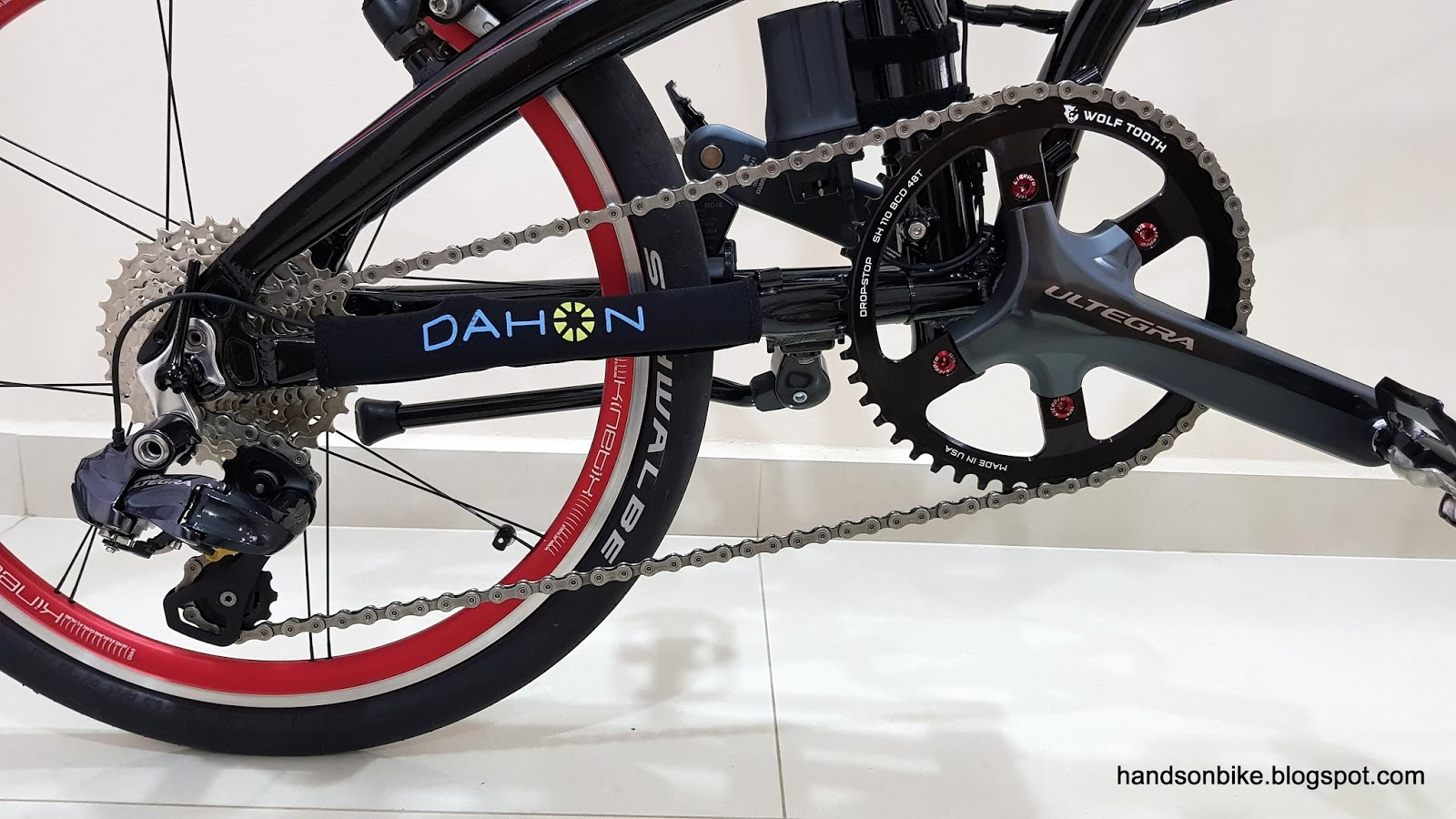 Hands On Bike Dahon Muex 1x11 Drivetrain Installation Mini Group Set 11speed Slx Sprocket 46t Chain Path When In The Rear Top Gear Derailleur Cage Is Slightly Extended To Maintain Some Tension Minimize Slap