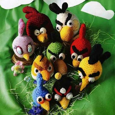 Вязаные крючком герои игры Angry birds