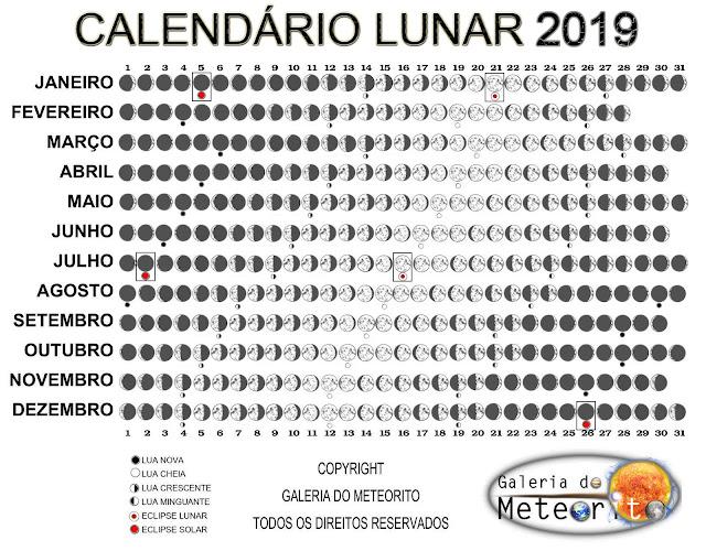 calendário lunar 2019 para imprimir