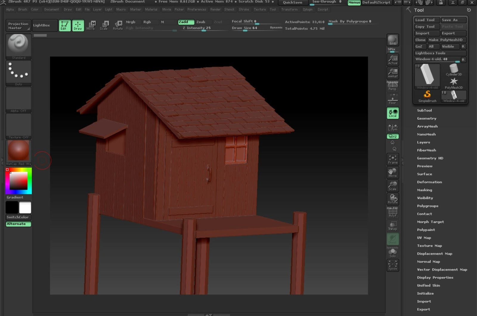 ZBrush and Photoshop on a Surface Pro Tablet