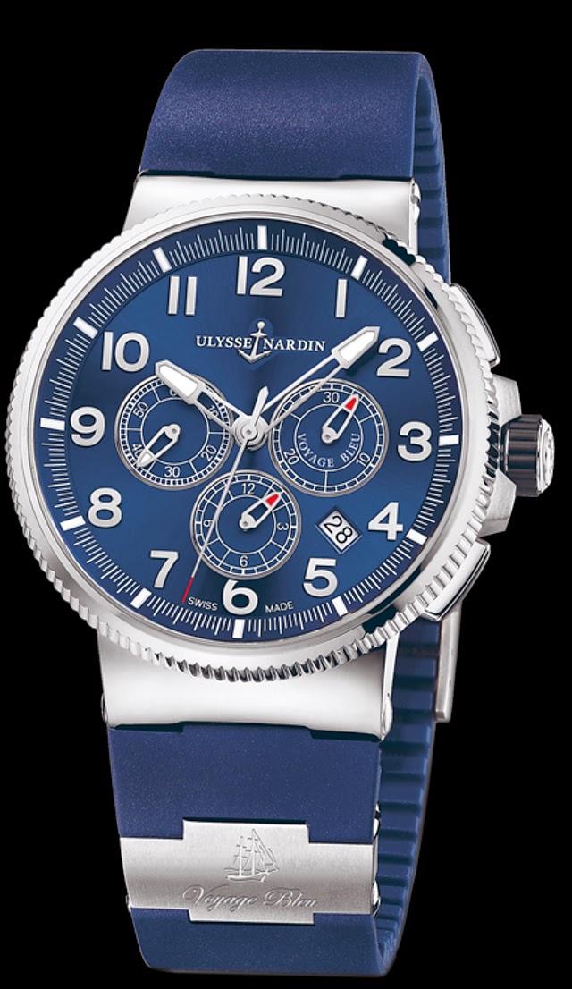 Ulysse Nardin Marine Chronograph Manufacture Voyage Bleu1