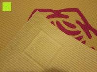 """Rückseite: Yogamatte """"Ravana"""" Die ideale Yoga- und Gymnastikmatte für Yoga-Einsteiger. Maße: 183 x 61 x 0,4cm / Tribal Center"""