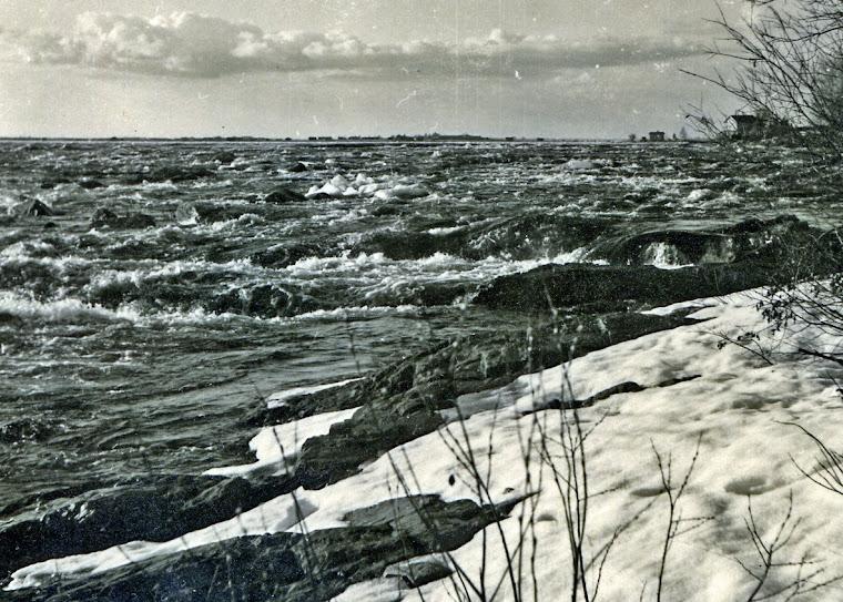 Kirjoittajan ottama kuva kevättalvella 1960-luvulla