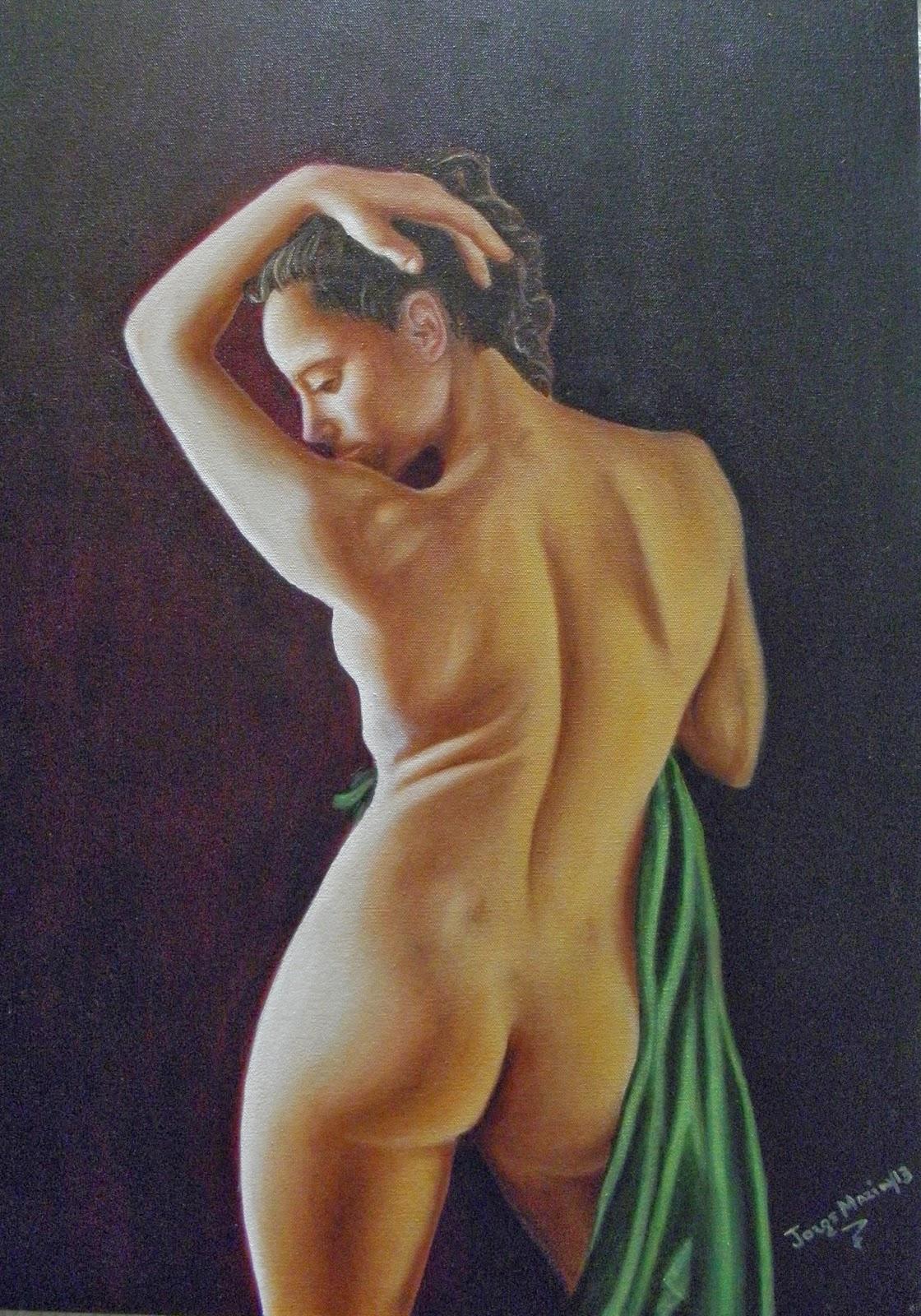 desnudo al oleo, Barbara, pintura realista
