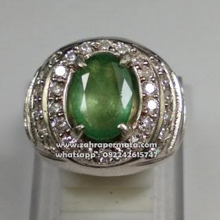 Cincin Batu Permata Zamrud Colombia - ZP 1083