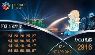 Prediksi Angka Togel Singapura Rabu 17 April 2019