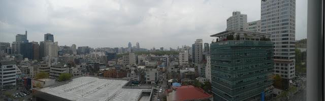 Blick auf Seoul aus meinem Hotelzimmer im InterContinental Seoul Coex