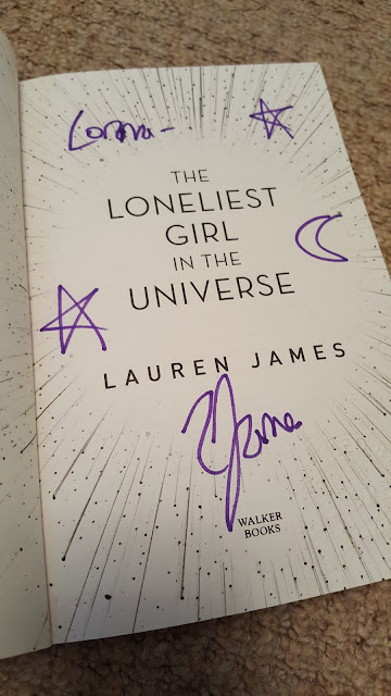 the-loneliest-girl-in-the-universe, lauren-james, signed-book