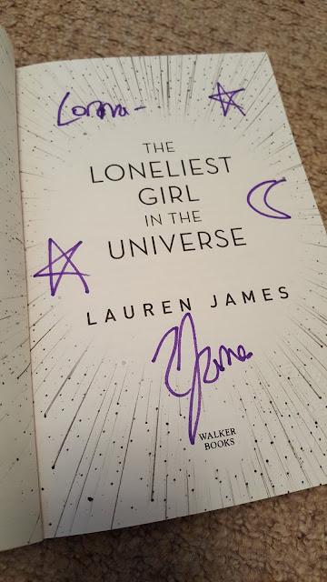 the-loneliest-girl-in-the-universe, lauren-james, signed-book