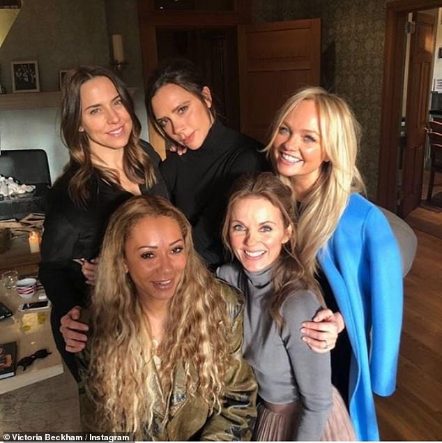 The Spice Girls spotted together as a four for the first time