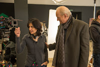 Shamim Sarif and Charles Dance on the set of Despite the Falling Snow (4)
