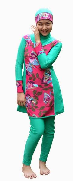Desain Baju Muslim Renang Modis