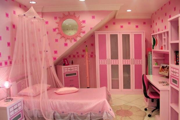 Dormitorios color rosa para niña