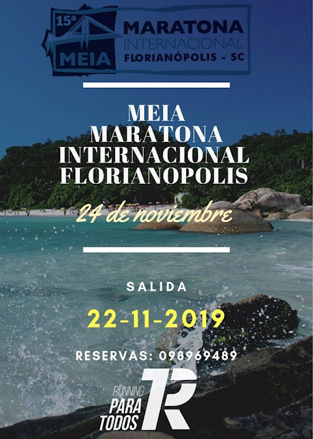 Viaje al Medio maratón de Florianópolis desde Montevideo (22a24/nov/2019)