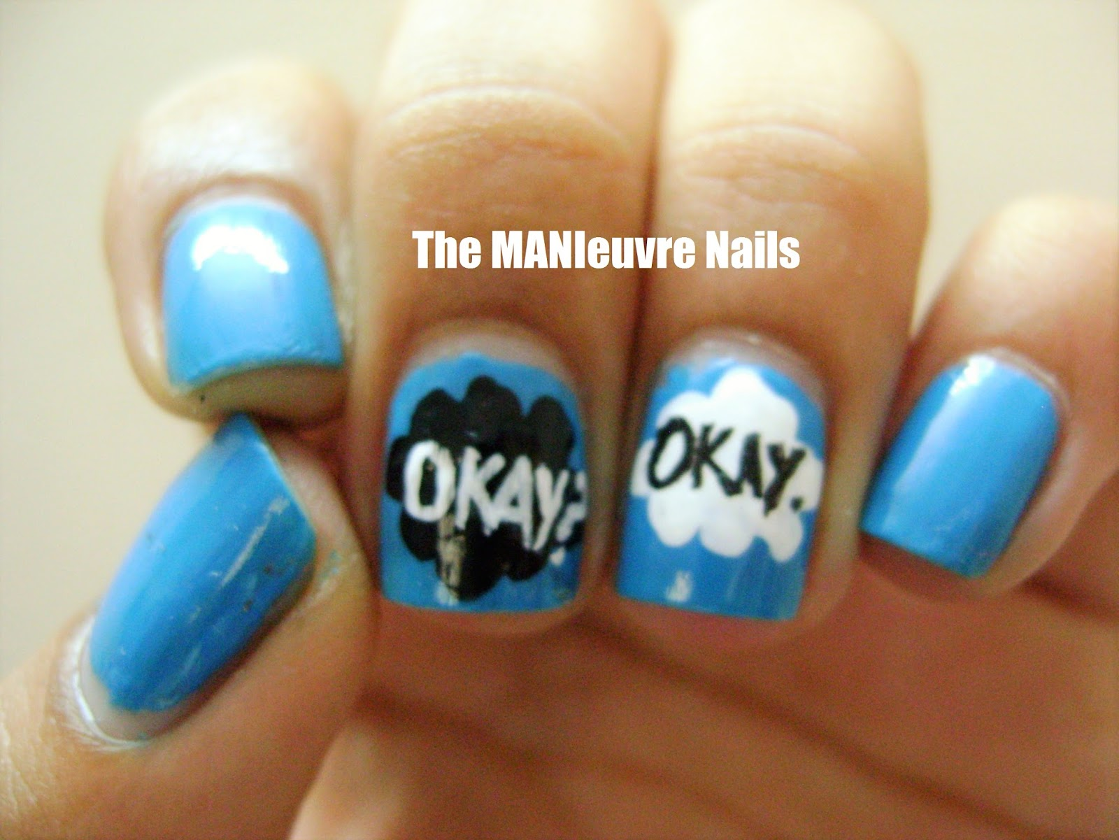 Today I Have An Awesome Nail Art To Share With You All Its Is A Tfios Inspired One Duh Thousands Of Artists Tried This Already