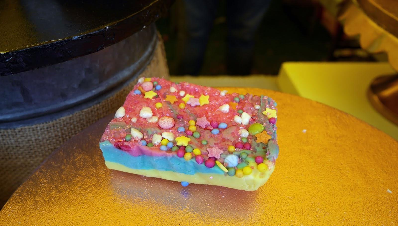 Rainbow fudge at the Canterbury Food Festival