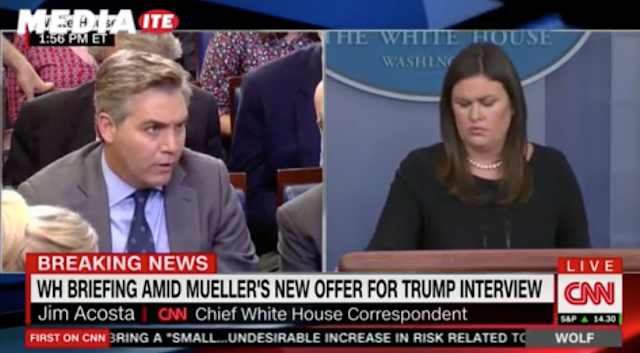 WATCH: Sarah Sanders Refuses to Say Press Isn't 'Enemy of the People' in Jawdropping Clash With Jim Acosta