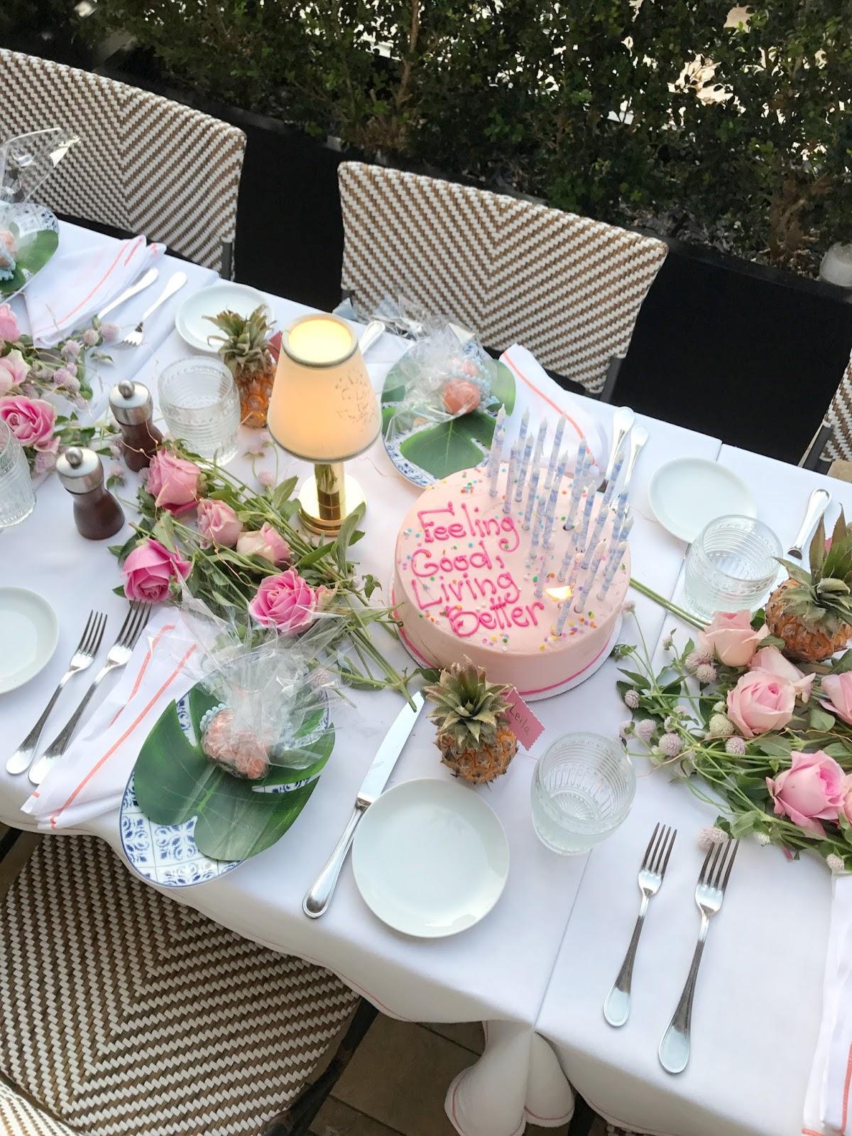 Birthday Dinner Table Gisele Chic