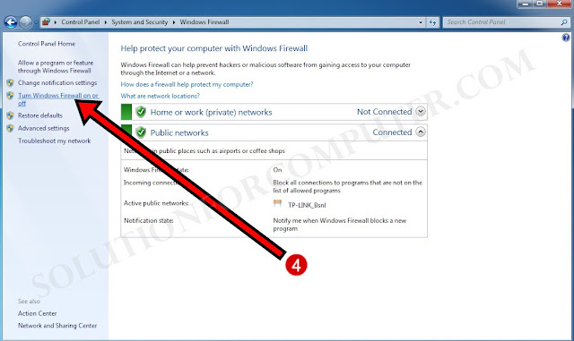 How to disable windows firewall