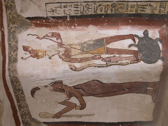 Paintings from the tomb of Petosiris at Muzawaka (XLV)
