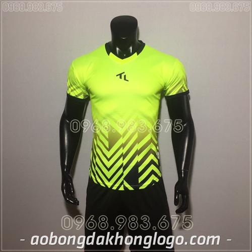 Áo bóng đá không logo TL Raki màu xanh chuối