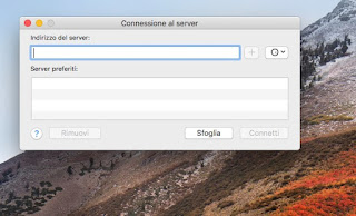 Connetti Server su Mac