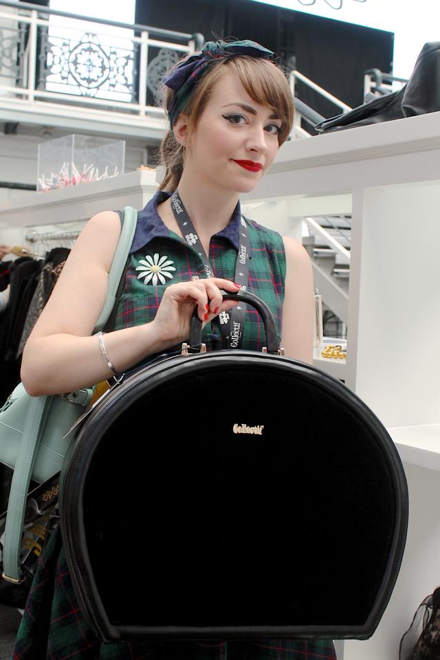 Collectif Tammy travel bag in black velvet