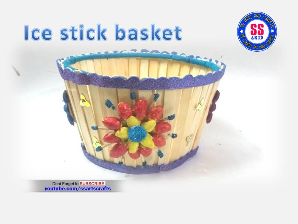 Ice cream sticks Fruit Basket