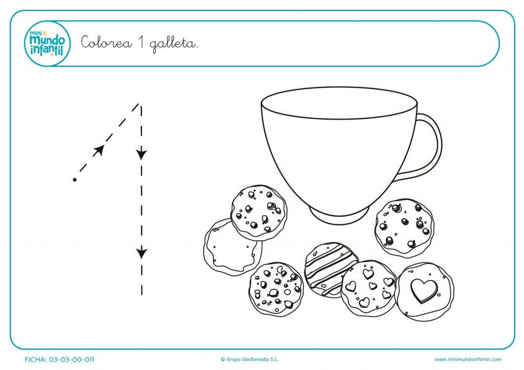Dibujo Del Numero 1 Para Colorear: Imágenes Para Repasar Y Trazar El Numero Uno