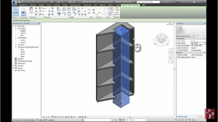 Revit Shaft and Wall Opening Command