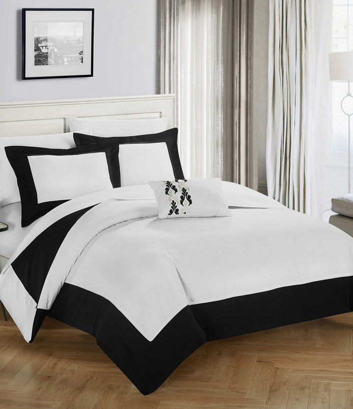 Black border duvet cover