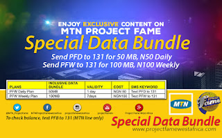 Hot!!! How to Get 100MB MTN Data Bundle for Just N100 | PROJECT FAME ALL NEW DATA BUNDLE