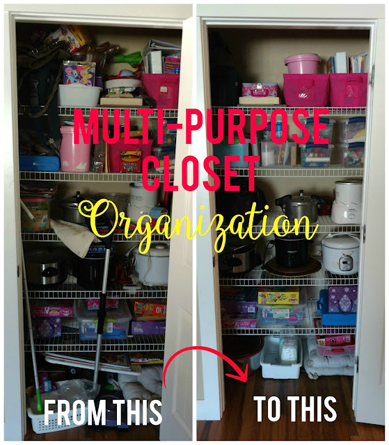 Simple tips to help organize those crazy multi purpose closets