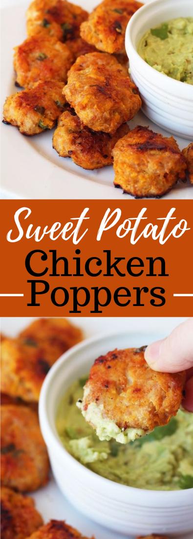Sweet Potato Chicken Poppers #healthy