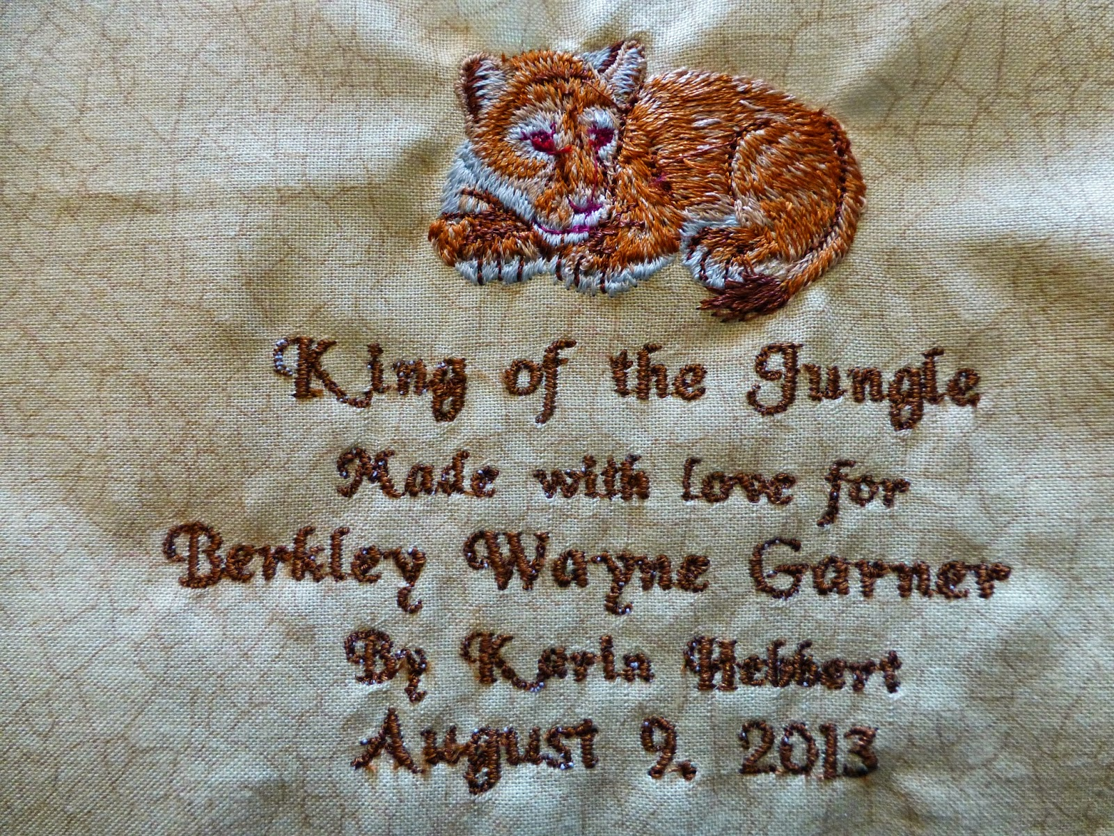 This Label Goes On The Gigantic Western Scrappy Trips Quilt That Is On Our  Bed It Is Our Covered Wagon Quilt, So Named Because A Friend (hi Saska!)  Said It