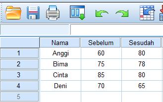 cara uji data dua sampel berpasangan dengan spss statistik nonparametrik 2