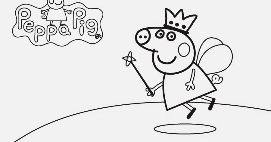 Disegni da colorare per bambini peppa pig for Maschere di peppa pig da colorare